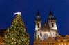 merry christmas! (sixthofdecember) Tags: travel europe czechrepublic prague praha city urban capital dark darkness night nightshot nikon nikond5100 tamron tamron18270 outside outdoors building buildings architecture christmas christmaslights christmasmarket oldtown oldtownsquare tree christmastree church churchofourladybeforetýn