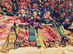 At the market in Mexico. (France-♥) Tags: 93 lacruzdehuanacaxtle lacruz dolls sundaymarket mexico market colorful poupées souvenirs