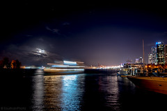 Midnight Express (SoultrainPhoto) Tags: waterfront water night sky boat harbour vancouver canada lights citylights coalharbour reflections ship
