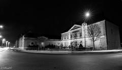 Un soir d'hiver (Fréd.C) Tags: bourgogne nuits nuit night street town ville france french burgundy road route noel black white noiretblanc