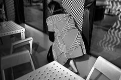 . (www.piotrowskipawel.pl) Tags: wrocław województwodolnośląskie poland bw blackwhite monochrome streetscene streetphotography street decisivemoment woman girl streetfashion fashion geometry composition abstract lines triangles triangle dots shapes