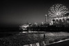The Night Swimmer (BrianEden) Tags: ca night la pier water losangeles santamonica fujifilm x100s california man beach ocean streetphotography fuji sea silhouette waves dusk wading unitedstates us