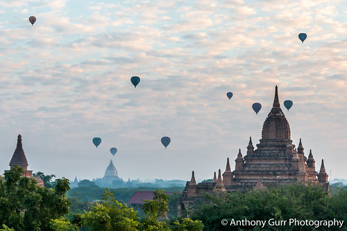 Hot Air Ballooons over Bagan, Myanmar