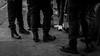 Trouble ?  Fujifilm XT-2 23mm f2 (Patrick Casutt) Tags: street streetphoto streetphotography streetportrait streetshot streetshooter candid photo film noir portrait blackandwhite bw fuji xt2 strassenfotografie suit fujifilm urban monochrome station trainstation police zurich trouble