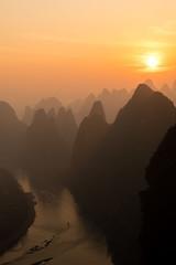 River (GavinZ) Tags: yangsuo xianggong sun sunrise river mountains landscape morning asia 漓江 阳朔 桂林 中国 广西
