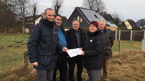 Besuch der Neubaugebiete der Ammerländer Wohnungsbaugesellschaft in Heidkamp und Metjendorf.