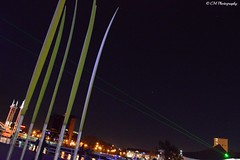 The Lowry (coraliemoreau7) Tags: lowry manchester uk laser night sky alan turing event