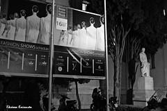 Zappeion Athens (Eleanna Kounoupa) Tags: ελλάδα αθήνα αττική greece athens attica ζάππειο μαυρόασπρεσ ιστορικόκέντρο zappeion bw blackwhitephotos blackandwhite hccity historicalcenter night νυχτερινέσ άγαλμα statue ευάγγελοσζάππασ νύφεσ brides