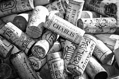Corks Out! (@WineAlchemy1) Tags: corks wine closures texture randomselection stilllife blackwhite noiretblanc chablis