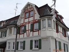 Haus in Aulendorf Bachstrasse. (stoerche-bw) Tags: erker fachwerk aulendorf