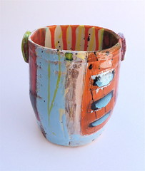 'Red, the other clay' (Linda Styles Unlimited) Tags: studio cornwall terracotta vessel heat expressive practice intuitive chemicals