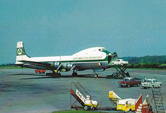 Aer Lingus Carvair at Bristol airport, mid-1960s (Proplinerman) Tags: airplane aircraft airliner dc4 c54 atel lulsgate propliner