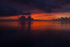 It was a dark and stormy morning .  .  . (mimsjodi) Tags: morning storm clouds sunrise cloudy stormy indianriverlagoon