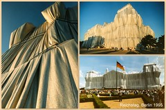 Wrapped Reichstag, Berlin 1995 (Lens Daemmi) Tags: berlin art germany kunst wrapped scan event reichstag 1995 christo jeanneclaude verhüllter