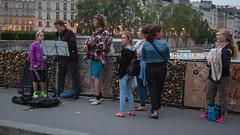 Evening in Paris. Pont de l'Archevch (Oleg.A) Tags: bridge paris france evening ledefrance pont pontdelarchevch archbishopsbridge