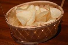 Complimentary cassava chips @Harum Manis Indonesian Restaurant, Pavilion Apartment - Jakarta, Indonesia (widyay) Tags: food indonesia yummy chips delicious jakarta salty indonesianfood culinary indonesian cassava cassavachips