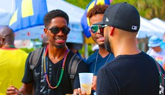 Chatting each other up (LarryJay99 ) Tags: gay people hairy color male men guy face sunglasses neck beard goatee glasses beads back hands couple arms faces florida masculine manly rear profile caps smiles glbt guys dude backpack males blackpeople facialhair shoulders mustache blackman dudes ftlauderdale stud blackmen blackmale studs psa nape wiltonmanors virile efs60mmf28macrousm malegay canon60d