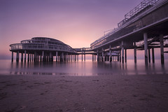 Twilight Pier (Explored) (Elroy Spelbos) Tags: seascape netherlands landscape coast pier scheveningen jetty denhaag explore coastal waterscape explored coastallandscape