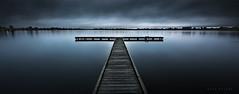 Lake Wendouree (Mark McLeod 80) Tags: longexposure lake pano jetty australia victoria le vic bluehour ballarat lakewendouree wendouree markmcleod canontse24mmf35lii lee12softgrad