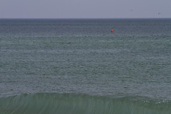 A Slice of the Atlantic (brucetopher) Tags: ocean blue sea orange seascape green beach orleans waves break capecod massachusetts wave seal ripples buoys atlanticocean buoy breakingwave nationalseashore buoyant brucetopher