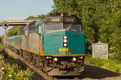 Ocean Above Sea Level - Bedford, NS (CRWentz.Photo) Tags: railroad train bedford novascotia rail via passenger