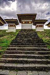 The Chortens At The Dochula Pass (Baron Reznik) Tags: vertical bhutan stupa buddhist religion buddhism wideangle chorten thimpu himalaya heap hdr himalayas spirtuality   colorimage himalayanrange mahayana dochula  drukyul dochulapass canon24105mmf4lis kingdomofbhutan thimphudistrict  landofthethunderdragon  mahyna   drukwangyalchortens        abodeofthesnow