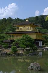 Golden Pavilion kinkaku-ji standing