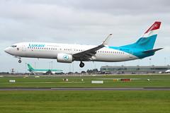 Luxair - Boeing 737-8C9 - LX-LBA (Andy2982) Tags: luxair boeing7378c9 lxlba cn435375293 landing dublinairport 28runway