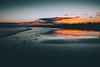 south beach rush (thatgirlwiththekicks) Tags: nature sky dublin ireland clouds sunset dusk evening rush south beach sand shore orange magenta golden blue