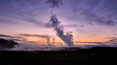 Geothermal Power Plants (bacon.dumpling) Tags: cloud dusk energy landscape nikond750 nopeople nobody onthemove outdoor powerplant renewableenergy scenic sigma24mmf14dghsmart sky steam sunset iceland neargrindavík