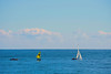 Getting started (Fnikos) Tags: boat sailboat sea water people sky skyline cloud seascape serene vehicle outdoor