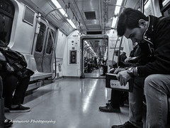 Underground 10 (`ARroWCoLT) Tags: mobiography cellphonephotography pureview people portrait nokia lumia 1020 istanbul bnw ishootpeople siyahbeyaz art bw blackwhite monochrome black white blackandwhite arrowcolt profile cart train underground subway metro streetphotography vehicle indoor wagon vagon bnwdemand bnwstreet