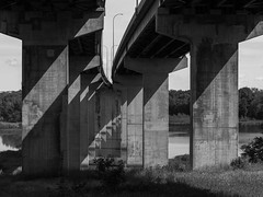 Shadows Under The Bridge (Duncan Rawlinson - Duncan.co - @thelastminute) Tags: 1cwl3idka3yg9v7ptxliylzt71hthyvxkl abrahamlincolnmemorialbridge architecture duncanrawlinsonphoto duncanrawlinsonphotography duncanco i39 iq250 interstate39 phaseone phaseoneiq250 photobyduncanrawlinson road roadtrip2016 roadtriptoburningman2016 shotwithaphaseoneiq250 traffic architectural below blackandwhite bridge concrete engineering highwaybridge httpduncanco httpduncancoshadowsunderthebridge httpsblockchaininfotx2954642a6f23cd3c2d2b16c4dc3c092639284 infrastructure line lines pattern patterns publictraffic ride roadwork rules shadow sky speed straightahead track transportation travel travelling turnpike underneath underway wall oglesby illinois unitedstates us httpsblockchaininfotx2954642a6f23cd3c2d2b16c4dc3c092639284048aff5b8aecb15ab3bb535557a