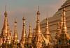 Pinnacles of Shwedagon (pixellesley) Tags: shwedagon pagoda evening golden pinnacles stupa buddhism barefoot goldleaf myanmar burma yangon rangoon lesleygooding
