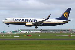 Ryanair - Boeing 737-8AS - EI-EKP (Andy2982) Tags: airliner ryanair boeing7378as eiekp cn350283199 landing dublinairport 28runway