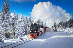 2017 Joyride (jeho75) Tags: sony ilce 7m2 zeiss germany deutschland harz harzquerbahn winter dampflok locomotion steam engine snow train joyride nostalgic nostalgie