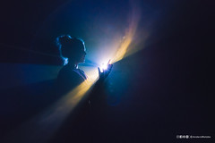 Genisis (anderswotzke) Tags: light beam galaxy stagelight sculpture projection smoke spotlight acmi youandihorizontalii melbourne australia australian solidlight anthonymccall galactic universe create sony alpha a7rii zeiss