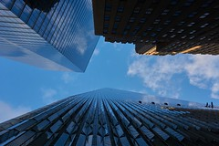 In between (christophwagner) Tags: usa amerika 2016 newyork nyc tower one skyscraper sky is limit no limits clouds architecture architektur buildings onetower towerone twintowers travel travelphotography newyorkcity
