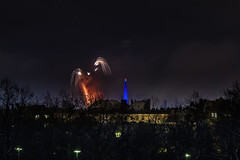 _MG_5237 He is ok. (Sakuto) Tags: fireworks light night city poznan wosp landscape tower blue colors outdoor colorful poland sky