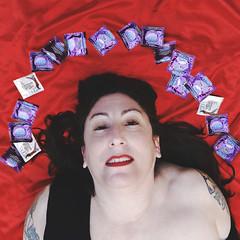 22.365 (sadandbeautiful (Sarah)) Tags: me woman female self selfportrait 365daysx8 365days day22 condoms