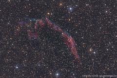 NGC6992/95 Eastern Veil Nebula -Supernova remnant (John Chumack _Observatories) Tags: ngc6992 ngc6995 easternveilnebula cygnusloop supernovaremnant veilnebulacomplex kenton ok usa