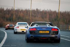 Convoy (MJParker1804) Tags: audi r8 v10 spyder sepang blue porsche 911 997 gt3 manual mclaren 570s ventura orange twin turbo v8 supercars convoy driving