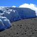 Furtwängler Gletscher auf dem Plateau unterhalb des Gipfels  (5.700 m) - 5. Tag am Kilimanjaro