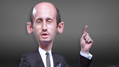 Stephen Miller - Caricature