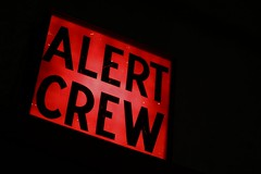 Crew Alert; Action Stations (keith bissett) Tags: red usa black history alarm sign southdakota us box text unitedstatesofamerica historic sd worn signage usaf distressed authentic coldwar scramble powered canonslr readiness canon50mmlens alerter canonprimelens southdakotaairmuseumexhibit crewalert