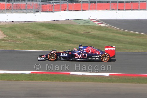 Max Verstappen in Free Practice 1 at the 2015 British Grand Prix at Silverstone
