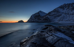 haukland at dusk (christian.denger) Tags: blue sunset seascape norway landscape long exposure lee lofoten eos6d houre haukland canon1635f4