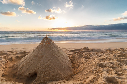 Sandcastle during Sunset