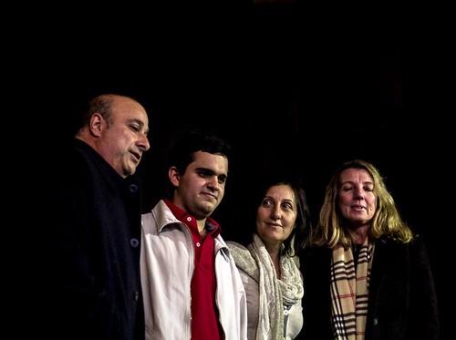 Carlos Castellano (Presidente HCD), Gustavo Pérez (Director General TEDxSanIsidro), Silvina Pastor (Tesorera Biblioteca) y Úrsula Nolte (Presidente Biblioteca)