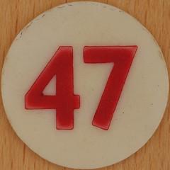 Bingo Number 47 (Leo Reynolds) Tags: xleol30x squaredcircle number numberbingo xsquarex bingo lotto loto houseyhousey housey housie housiehousie numberset 47 sqset120 40s canon eos 40d xx2015xx xxtensxx sqset